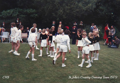 St.John's School Country Dancing Team 1979 by www.stockerimages.blogspot.co.uk
