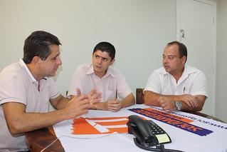 Vereador Dinho, de Cubatão, em visita à sede do Solidariedade-SP