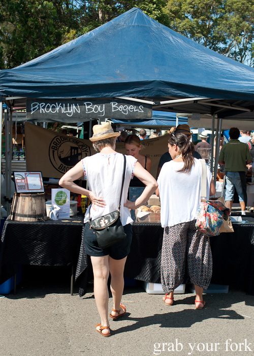 Brooklyn Boy Bagels at Frenchs Forest Organic Food Market