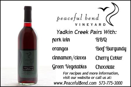 Yadkin Creek Food Pairing Guide