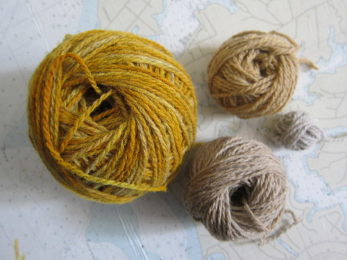 Clockwise turmeric paprika undyed and black tea
