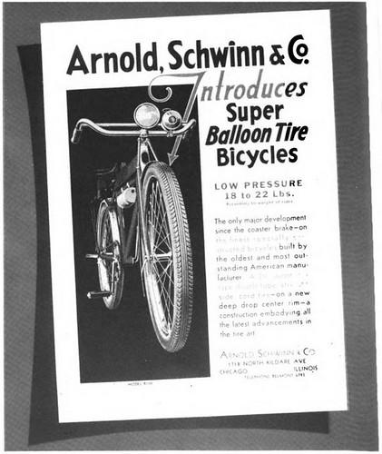 Schwinn Balloon Tire Ad 1933
