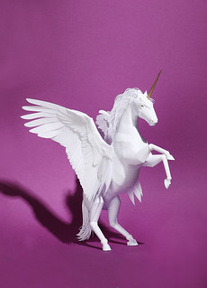 Winged Unicorn Paper Model