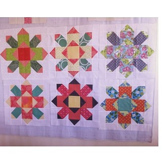 February's blocks so far!! @kimplace @kelliw6 @quiltsinthequeue @hellomynameisquilt #empowerdgs