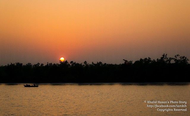 Sunset in Sundarban