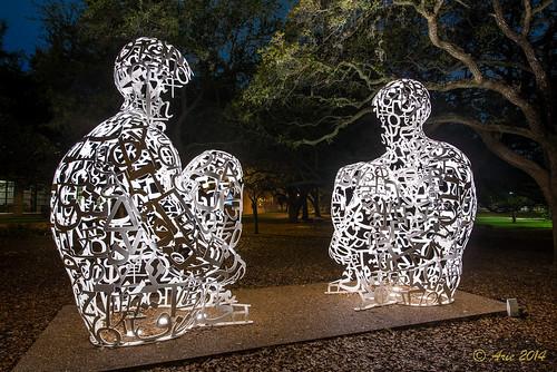 night lowlight nikon texas unitedstates rice houston riceuniversity outsideart medicalcenter d610 ricecampus mirrorsculpture nikond610