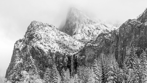 Bridalveil & Sentinels, Winter