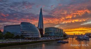 London - Sunset behind the Shard