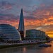 London - Sunset behind the Shard by Rolandito.