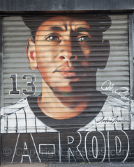 Alex Rodriguez (A-Rod) Canvas Painting near Yankee Stadium, The Bronx, New York City