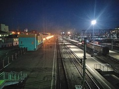 Ulan Ude train station at late evening.
