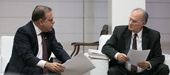 11 04 2017 - Paulo Abi-Ackel em reunião com ministro da cultutra, Roberto Freire