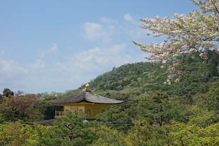 Изображение на Kinkaku-ji (Golden Pavilion Temple) близо до Kamigyō-ku. japan kyoto kinkakuji rokuonji temple goldenpavilion