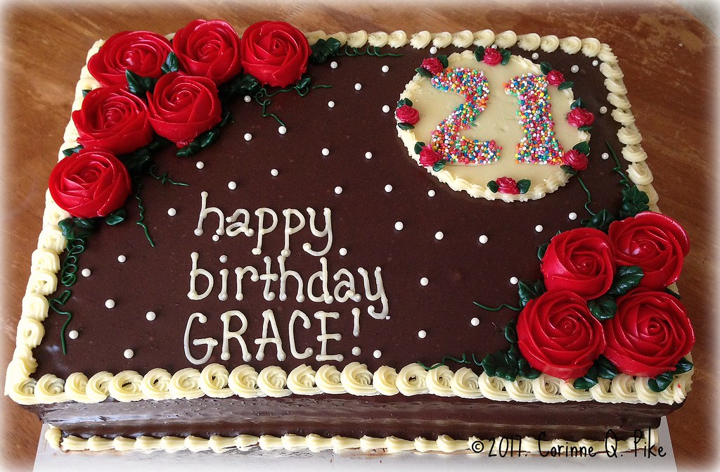 Chocolate Chiffon Birthday Cake