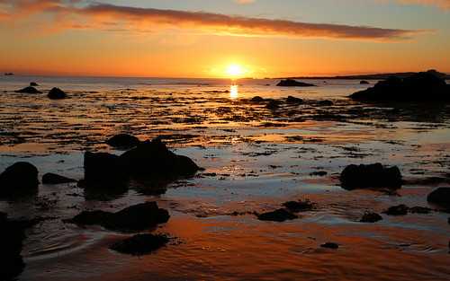 sunset kjalarnes iceland sun cloud sky sea stones water march 2017 platinumheartaward