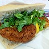 This was a fantastic fish cake sandwich from the farmers market on Tuesday. Excellent stuff.