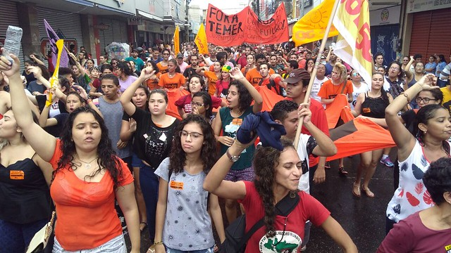 Workers participate in the country's first national strike since 1996 - Créditos: BrasildeFato