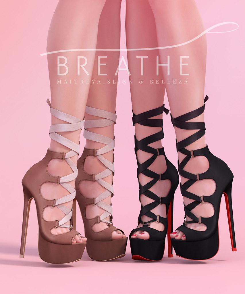 [BREATHE]-Chika Heels - SecondLifeHub.com