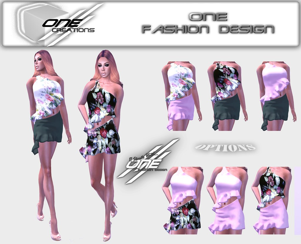 flower ruffles set - SecondLifeHub.com
