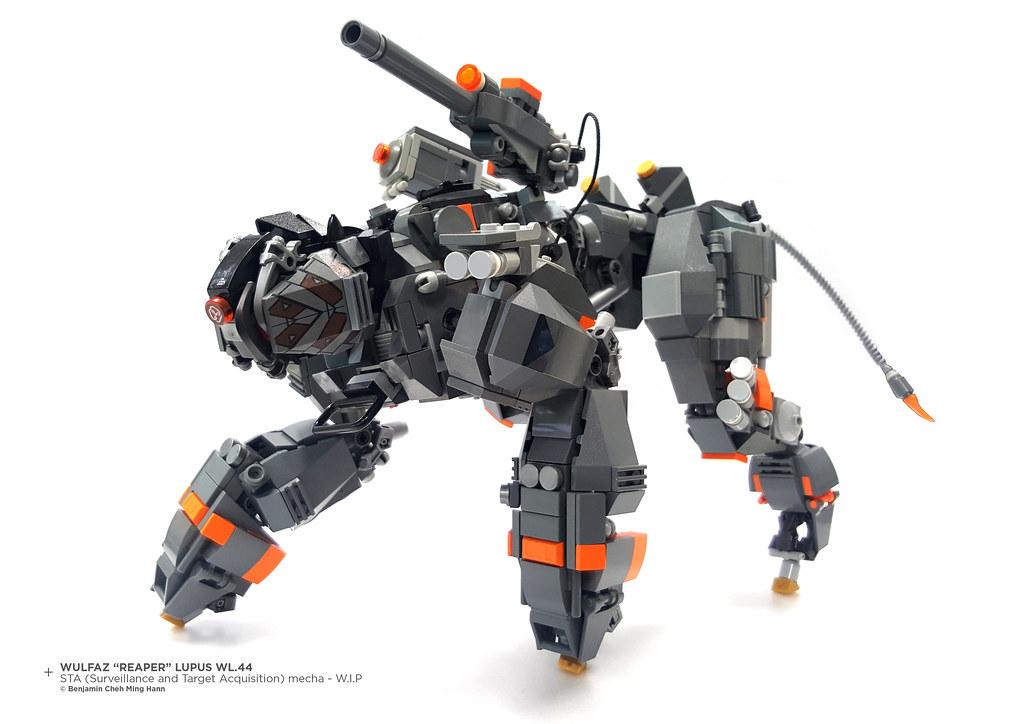 "Wulfaz ""Reaper"" Lupus WL.44 STA (Surveillance and  Target Acquisition) mecha – W.I.P (custom built Lego model)"