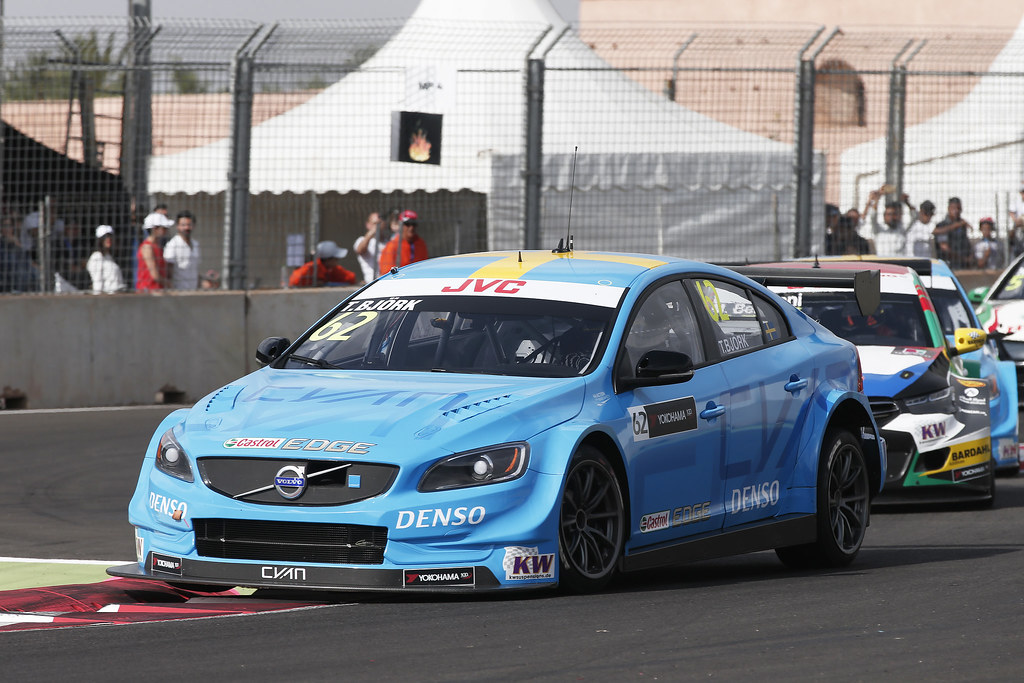 62 BJORK Thed (swe) Volvo S60 Polestar team Polestar Cyan Racing action during the 2017 FIA WTCC World Touring Car Race of Morocco at Marrakech, from April 7 to 9 - Photo Jean Michel Le Meur / DPPI.
