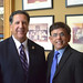 April 12, 2017. Rep. Srinivasan with Peter S. Carozza, Jr., President of the Uniformed Professional Fire Fighters Association of Connecticut.
