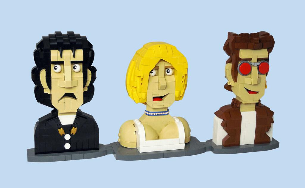 Preacher Busts (Comic Variant) (custom built Lego model)