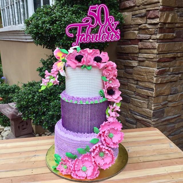 The Tier Purple-Pink Cake by Jean De Guzman Bobadilla of JeansCakeHouse