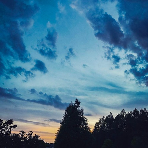 instagramapp square squareformat iphoneography uploaded:by=instagram crema sky florida fl ilovefl cloud nature tampa sunrisecommute
