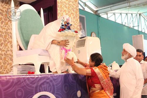 Local dignitary seeking blessings