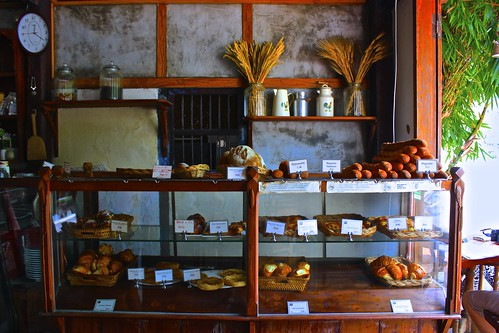 inside of a French bakery