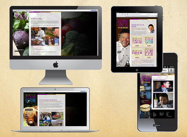 Multi-platform website for Christopher Trotter