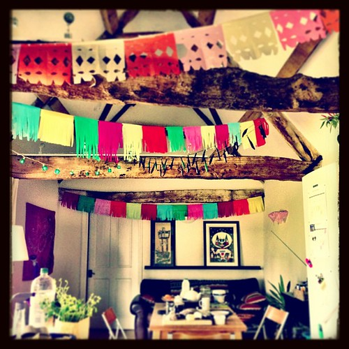 The scene at the Orchard Cottage #Airbnb this morning. Where it's always a fiesta.