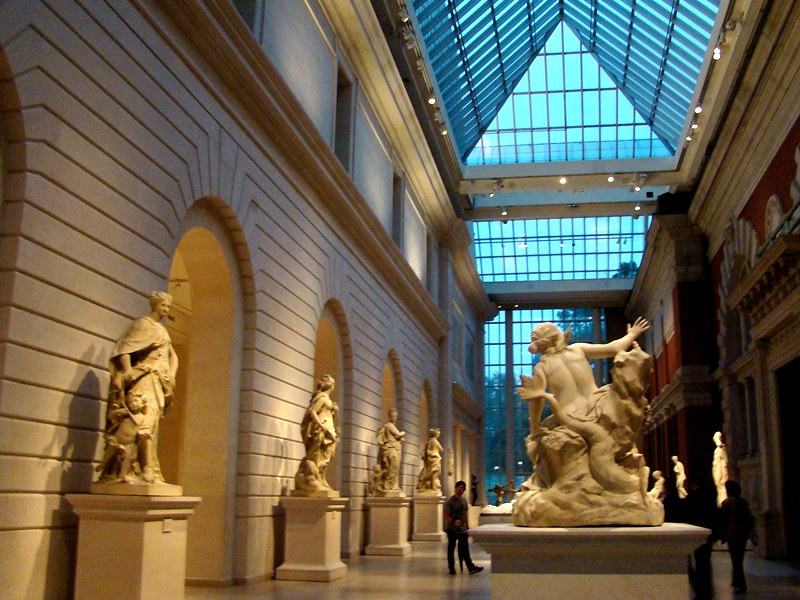 The Met atrium sculptures