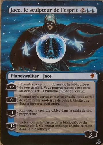 Jace the Mind Sculptor Altered Art Magic the Gathering MTG Altered Card Artwork Sandreline MTG Card Art Jason Chan Illustration