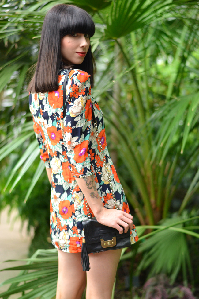 Palm trees floral dress blog 15