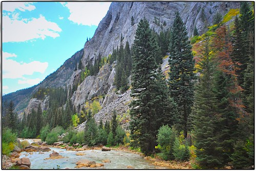 trees sky water rocks valley flare dsngr mrbluesky animasriver
