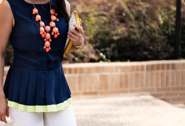 peplum pleats #summer #sleeveless #dallas #streetstyle