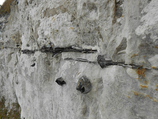 Strates de silex noir dans les White Cliffs (Photo de Fred)