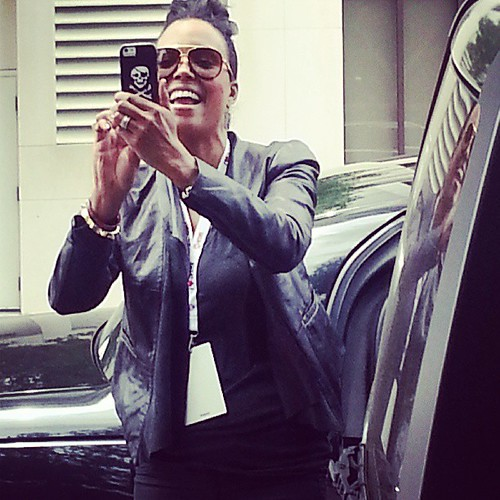 Taking a pic of @AishaTyler taking an Instagram video! #meta