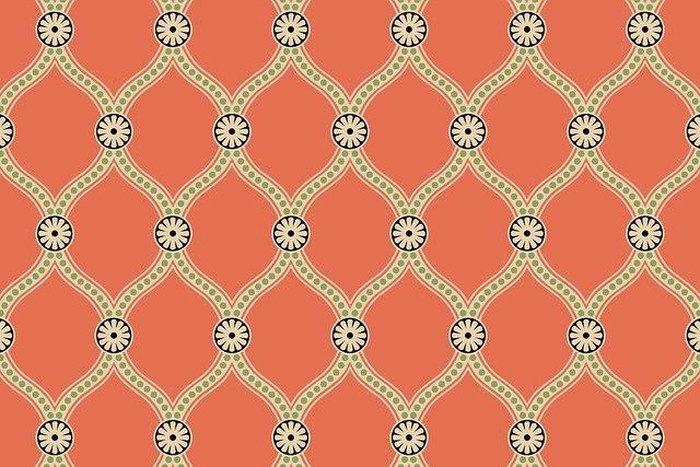 Simple Damask: Seamless Pattern (multicolor example ...