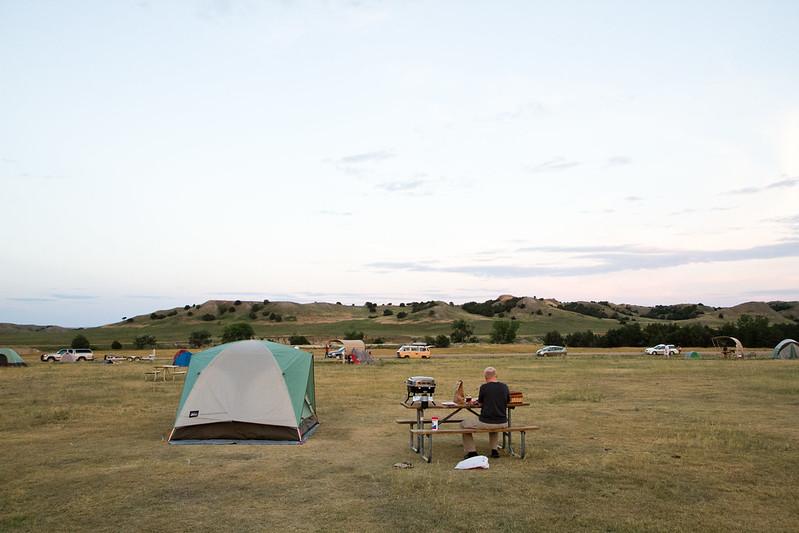 Tent at Badlands