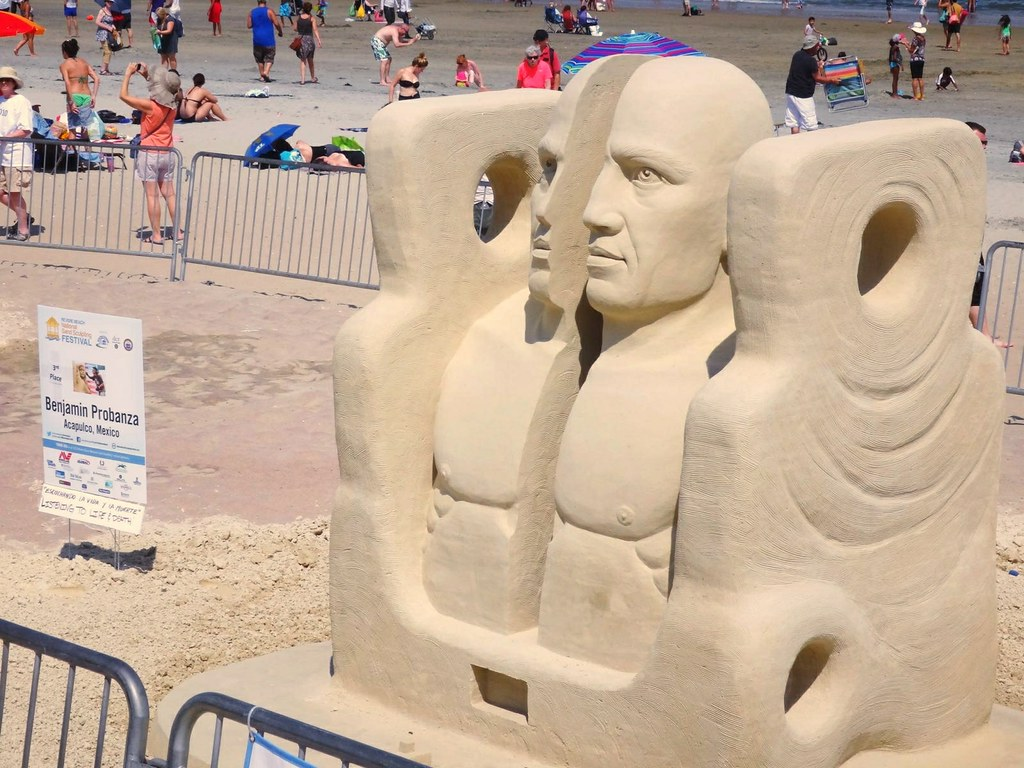2013 revere beach sand sculpting festival listening to life and death