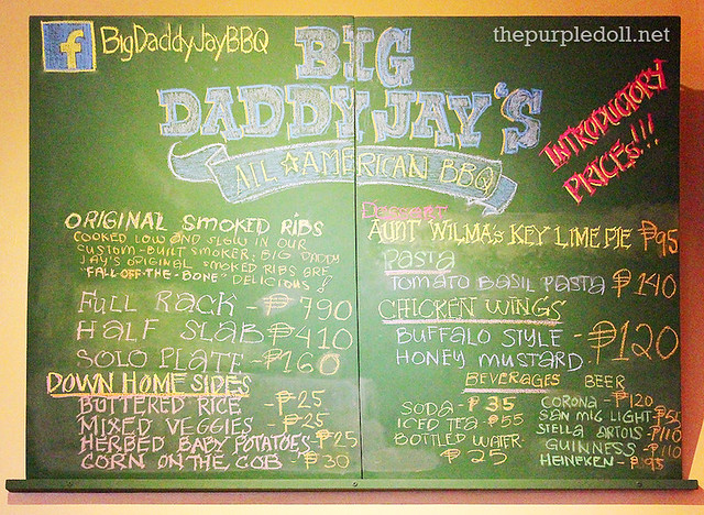 Big Daddy Jay's All-American BBQ Menu