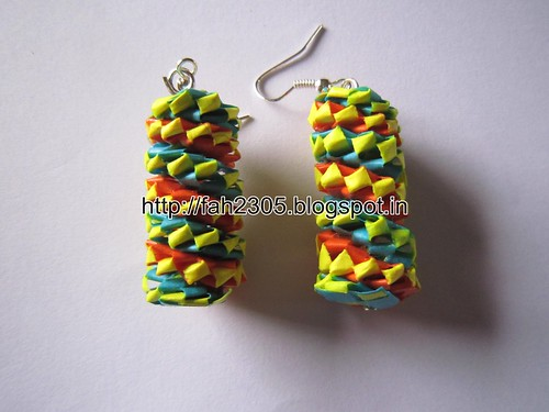 Handmade Jewelry - Paper Lanyard  Earrings (Twisted Non)  (3) by fah2305