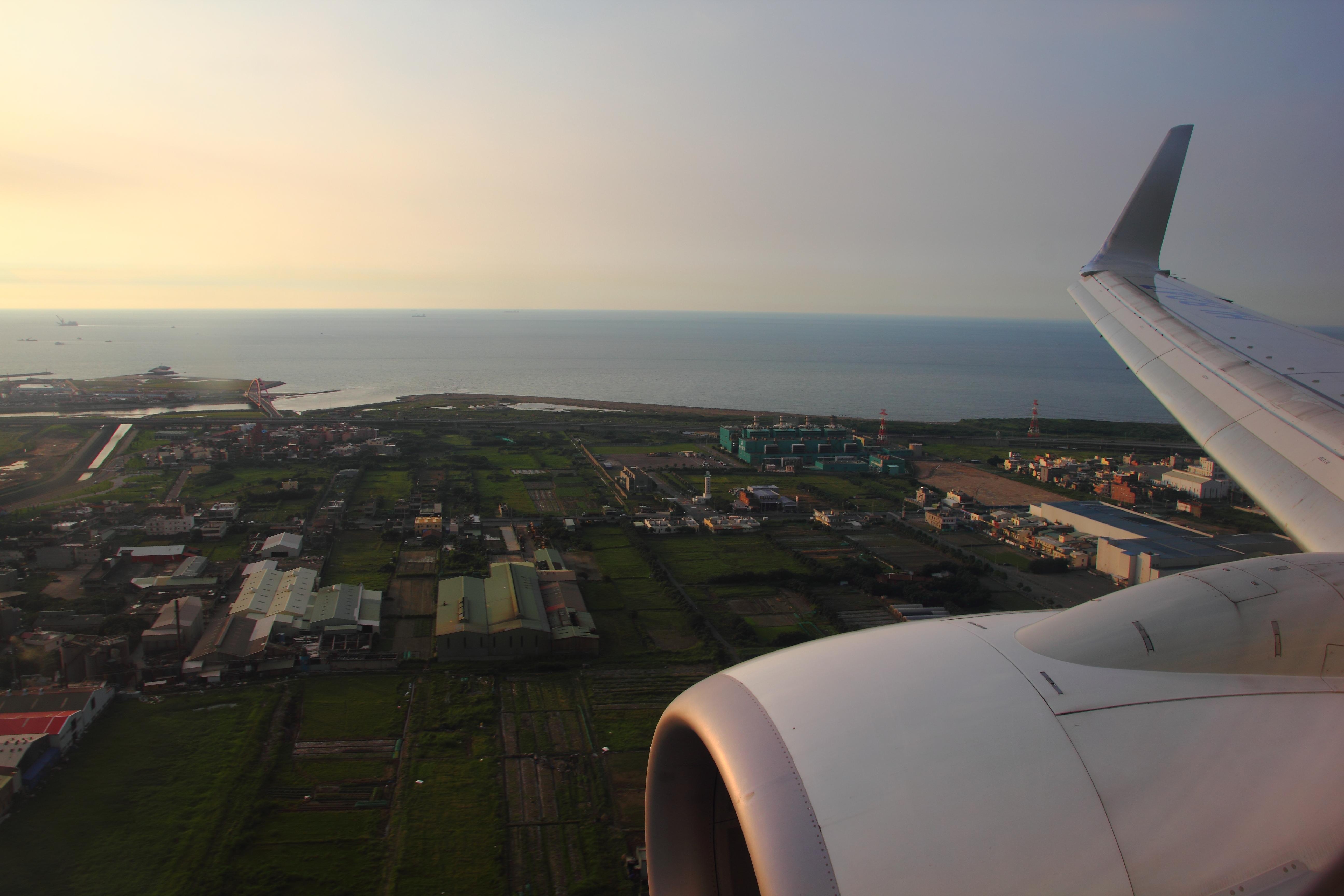 從韓國飛回台灣