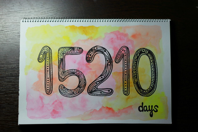 """Number"" of days since...  Day27 / #augustbreak3013"