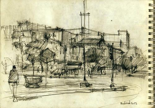 Imam Hossein Square (Dolat Portal- دروازه دولت) 1 by Behzad Bagheri Sketches