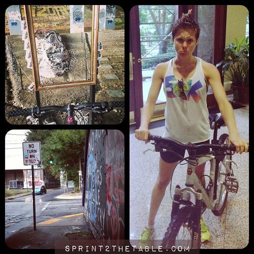 Beltline rain biking
