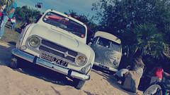 Les Anciennes En Vallée De l'Eure - Renault 4L Cabriolet & VW Combi T1